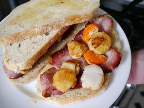 Scallop & Bacon Sandwich